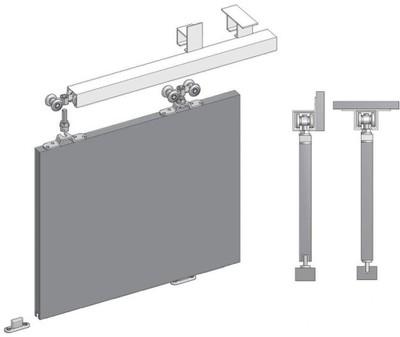 Ramowy Zestaw Okuć Do Drzwi Przesuwnych Gtv Form 10mm 10m 2 Skrzydła Alu